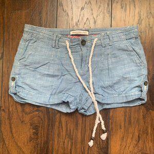 Abercrombie & Fitch Light Jean Shorts w/drawstring